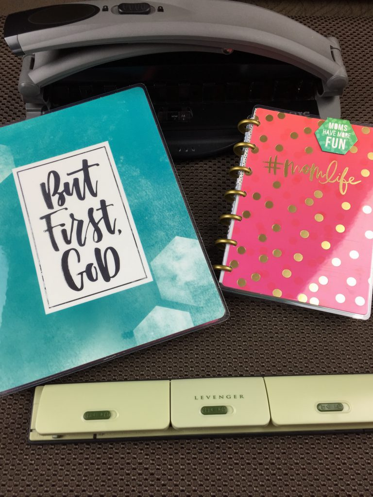 Classic size Happy Planner, Mini size Happy Planner, portable punch and desk punch.